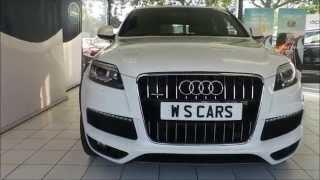 white audi q7 s line panoramic sunroof wimbledon specialist cars