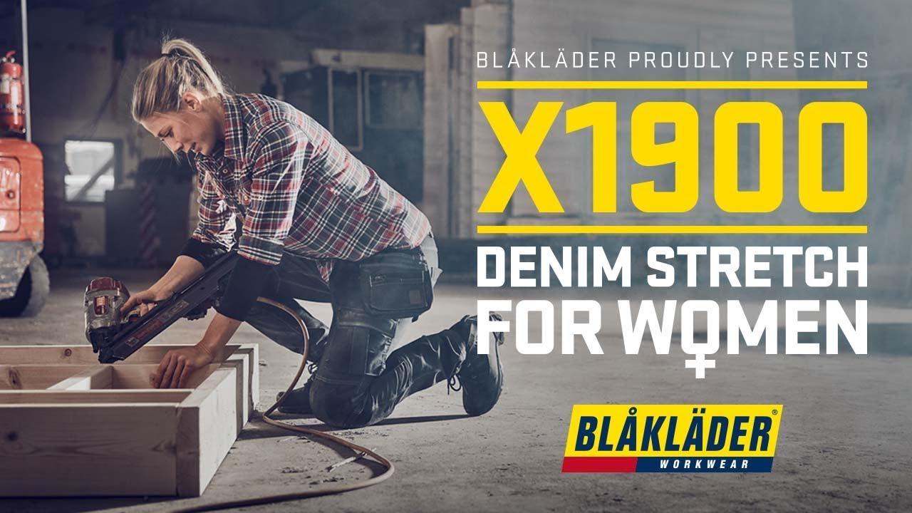 Populära Blåkläder proudly present - X1900 DENIM STRECH FOR WOMEN - YouTube UD-29