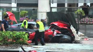 Car crash - Ferrari 599 GTO Vs Taxi in Singapore