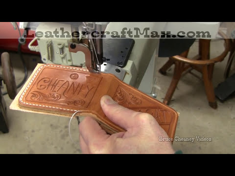 Leathercraft Sewing Leather Wallet YouTube Unique Best Thread For Machine Sewing Leather