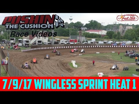 Angell Park Speedway - 7/9/17 - Wingless Sprints Heat 1