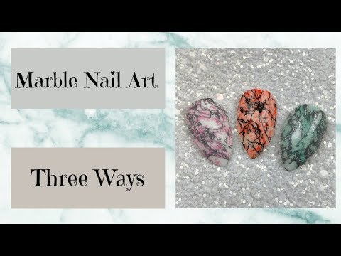 Marble Nail Art | Three Ways | Dixie Plates