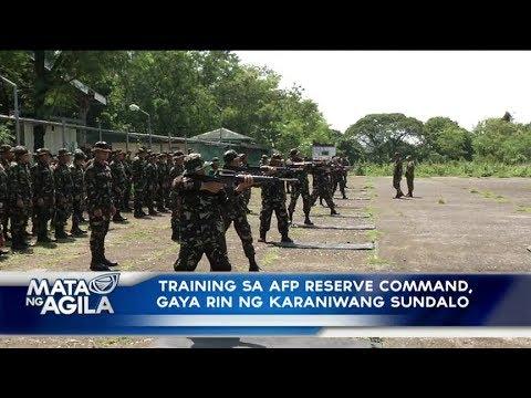 Training sa AFP reserve command, gaya rin ng karaniwang sundalo