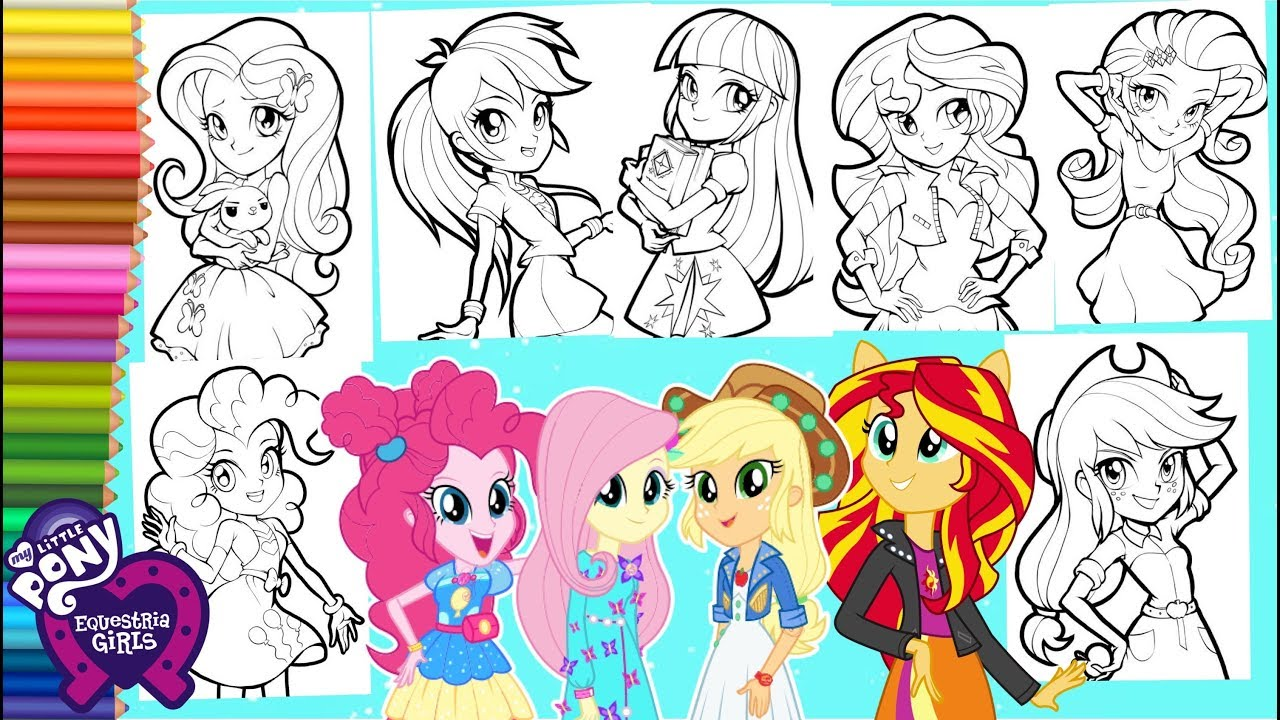 Coloring My Little Pony Equestria Girls Legend Of Everfree Mewarnai Kuda Poni Equestria Girls Youtube
