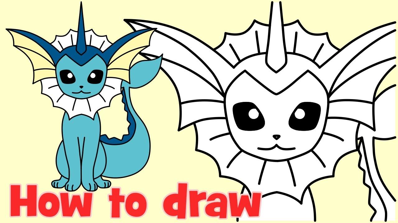 Uncategorized How To Draw Vaporeon how to draw vaporeon pokemon go characters youtube