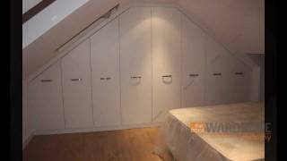 Fitted Wardrobes Sloping Loft Room White Slab