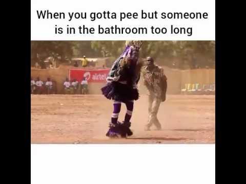 Mistaken. you gotta hold it pee