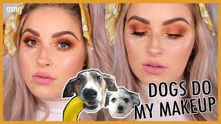 MY DOGS PICK MY MAKEUP!! 🐶🐼 Makeup Challenge 💕