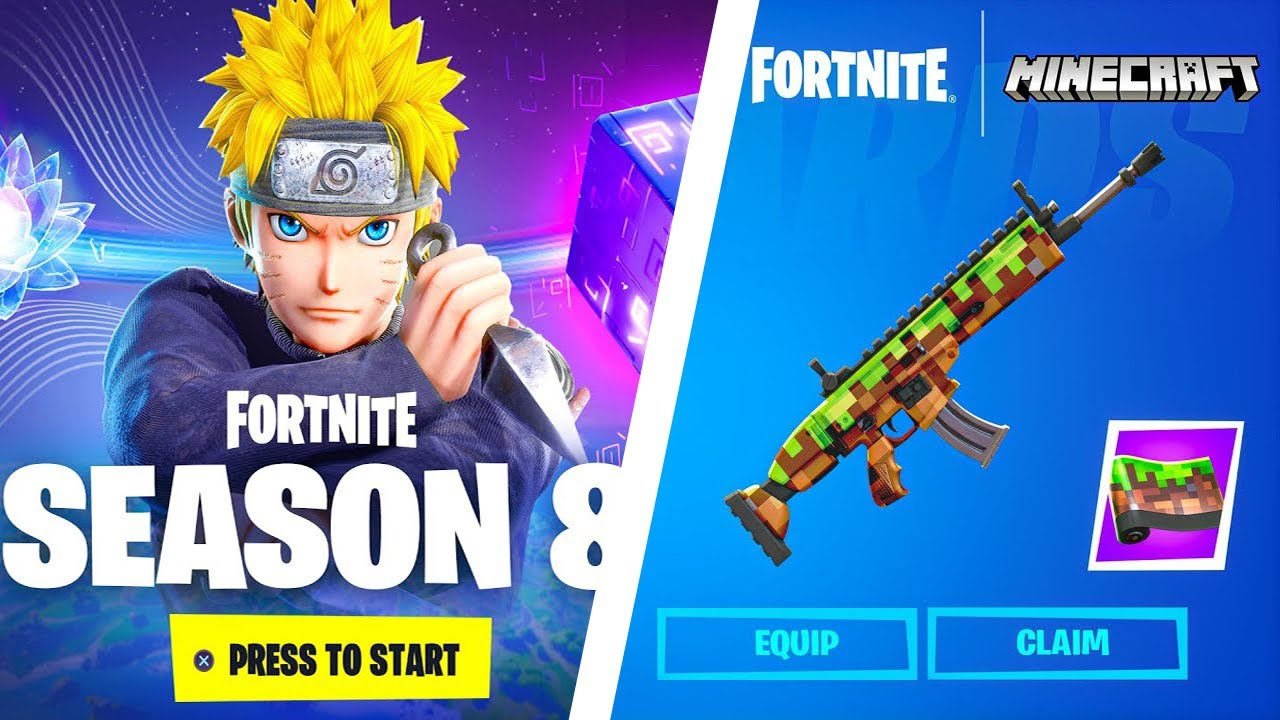 Download Fortnite Season 8 Leaks (NARUTO, MINECRAFT COLLAB,CUBE, MAP CHANGES)    FORTNITE LIVE