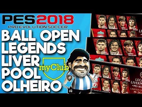 MYCLUB | BALL OPEN LEGENDS LIVERPOOL #2 + OLHEIRO DO MARADONA | PES2018 | #32