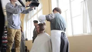 Мария Кожевникова на съемках фильма «Батальон смерти» (оператор Андрей Федечко)