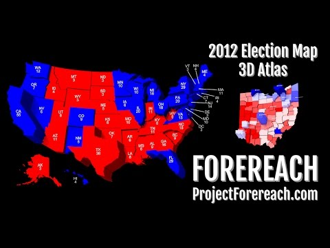 Project Forereach - 2012 U.S. Presidential Election, 3D Atlas