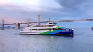 """San Francisco Bay Ferry """"Cetus"""" & """"Encinal"""" San Francisco California [Hyperlapse]"""