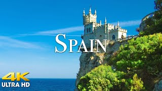 FLYING OVER SPAIN (4K UHD) Relaxing Music with Beautiful Nature Scenery   4K VIDEO Ultra HD / 4K TV