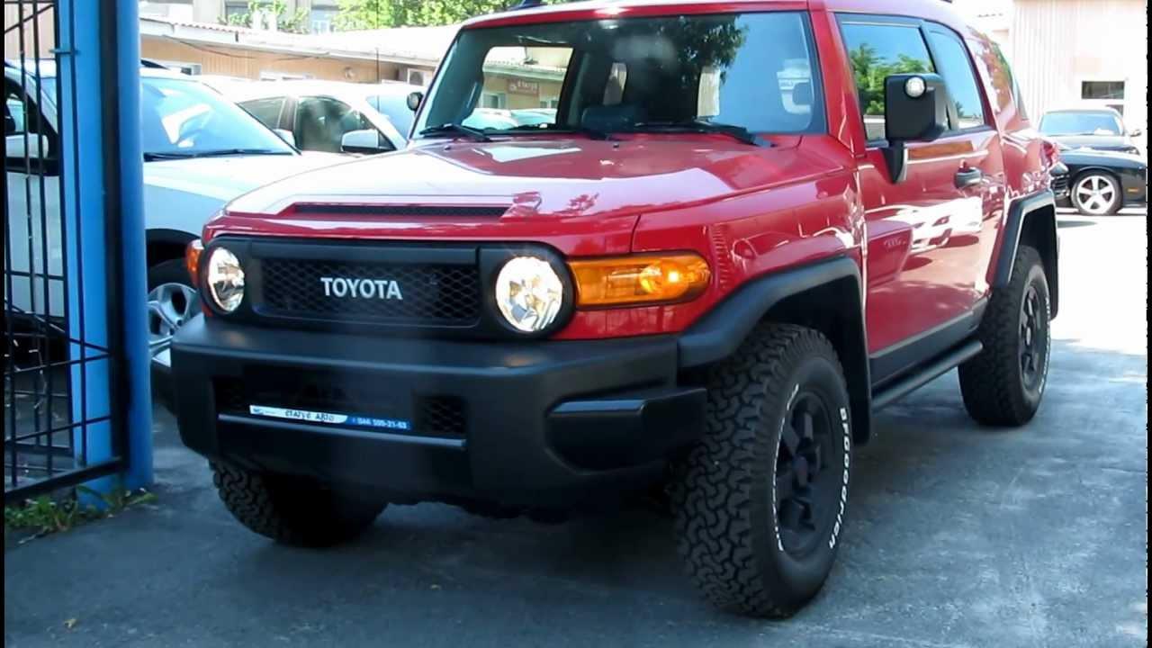 Toyota Fj Cruiser Trd Red 2012 Youtube