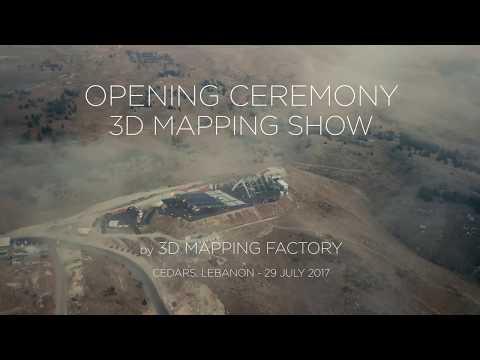 Cedars International Festival 2017 3D Video Mapping