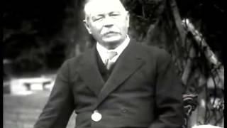 Sir Arthur Conan Doyle hablando de Sherlock Holmes y del Espiritismo (doblado al español)