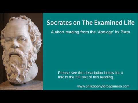 Socrates on The Examined Life - a short reading from the 'Apology' by Plato
