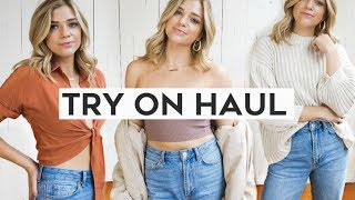 FALL TRY ON CLOTHING HAUL 2018