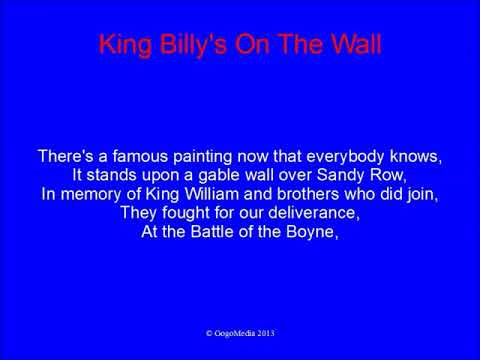 King Billy's On The Wall With Lyrics - Rangers Song