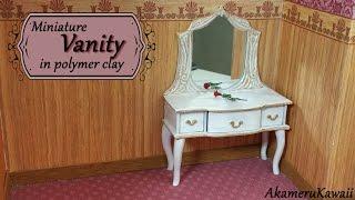 Miniature Doll Vanity - Polymer Clay Tutorial