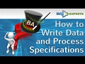 How To Write Data and Process Specifications