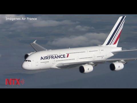 Inaugura Air France vuelo a México con el avión más grande del mundo