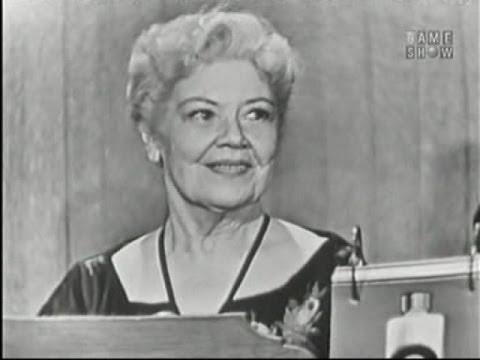 What's My Line? - Spring Byington; Ernie Kovacs [panel] (Oct 27, 1957)