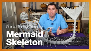 Mermaid Skeleton - Oriental Trading Company Halloween Prop Decoration Unboxing and Review