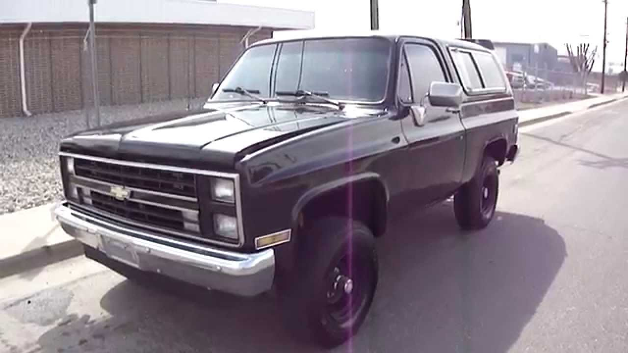 1988 chevrolet k5 blazer 4x4 in tuxedo black restored and for sale youtube
