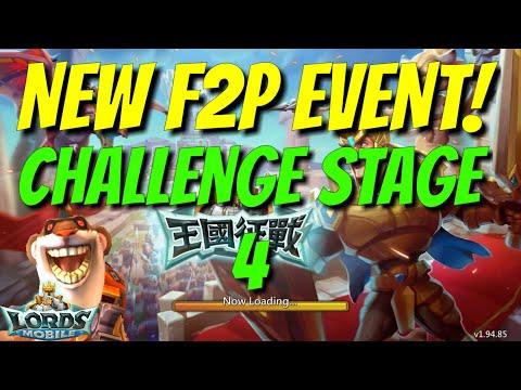 F2P Hero Event Challenge 4 Walkthrough - Lords Mobile