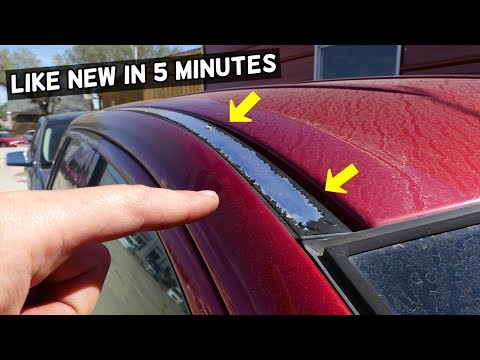 HOW TO FIX PEELING ROOF RAILS demonstrated on Ford Edge