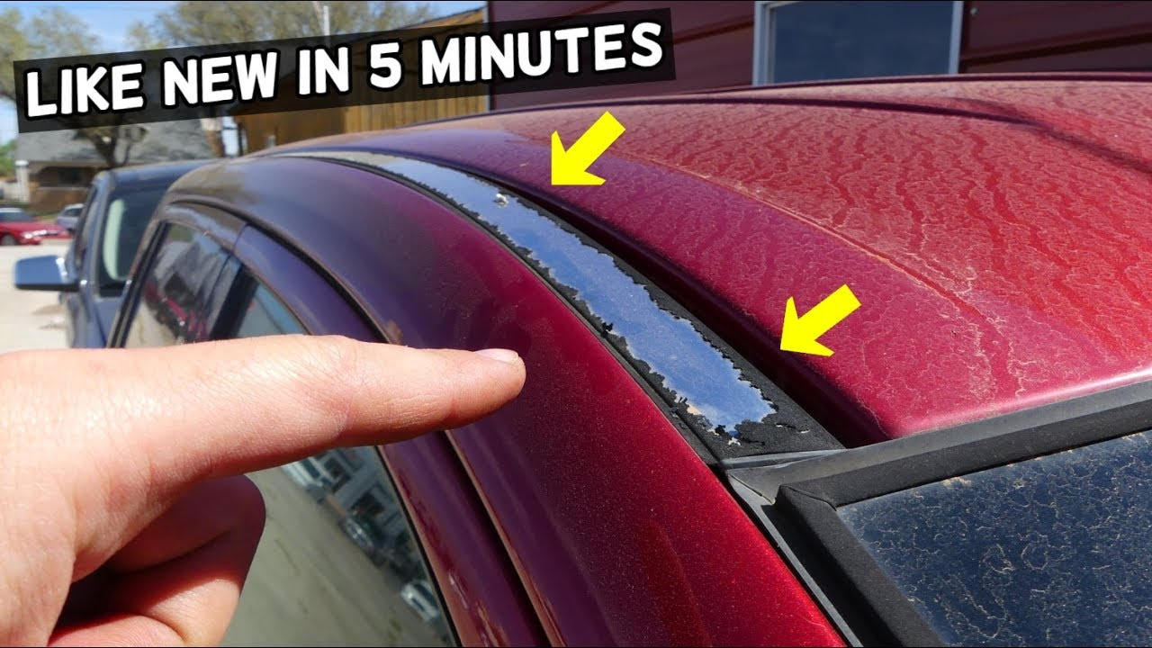 How To Fix Peeling Roof Rails Demonstrated On Ford Edge Youtube