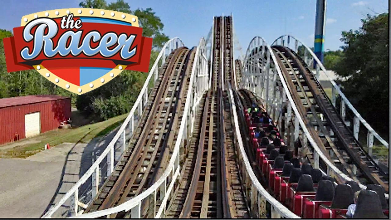 The Racer HD Front Seat On Ride POV & Review, Both Sides! Wooden Racing  Coaster Kings Island - YouTube
