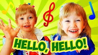Hello Hello song with Alena and Pasha + More Nursery Rhymes Songs Compilation by Chiko TV