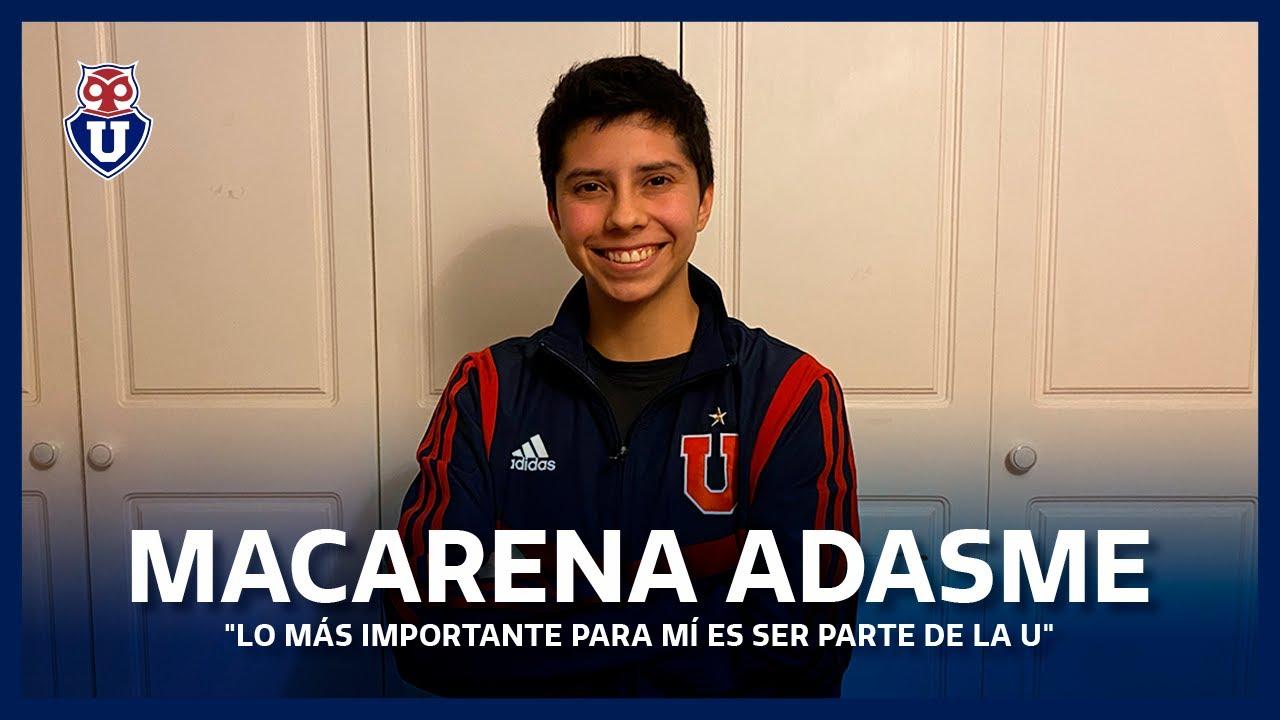 """Macarena Adasme: """"Lo más importante para mí es ser parte de la U"""""""
