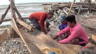 Cara Nelayan Madura Membuat Perahu || Diy How Madurese Fishermen Make Boats