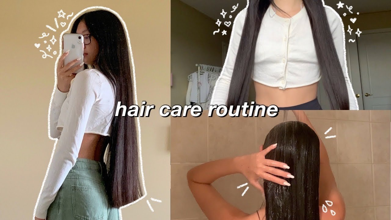 my hair care routine for long and healthy hair 🛁