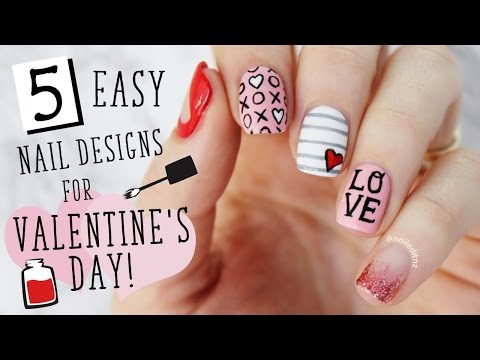 FIVE IN FIVE | Easy Valentine's Day Nail Art | Nailed It NZ