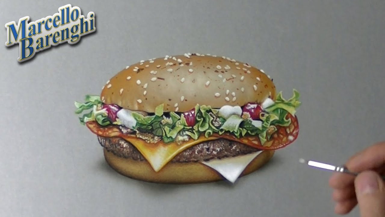 drawing time lapse mcdonald s mcfragbite 3 of 5 burgers