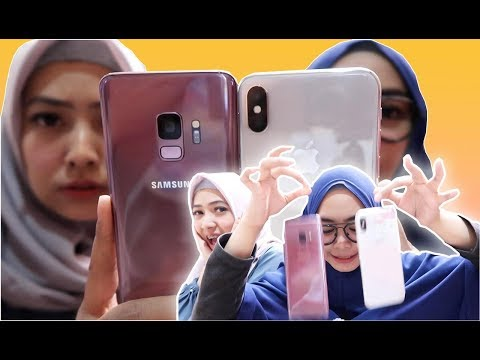 SAMSUNG S9 vs iPhone X JATUH? MANA YANG PECAH??