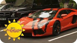 Luxusschlitten und Carspotting in London | SAT.1 Frühstücksfernsehen