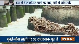 2 Buses Fall into River after Bridge Collapses on Mumbai-Goa Highway