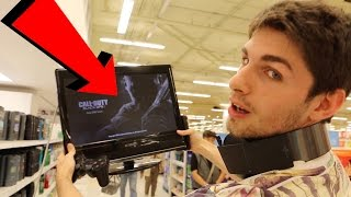 KICKED OUT FOR PLAYING PLAYSTATION AT THE GROCERY STORE!