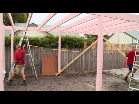 How To Install Bracing For A Carport - DIY At Bunnings