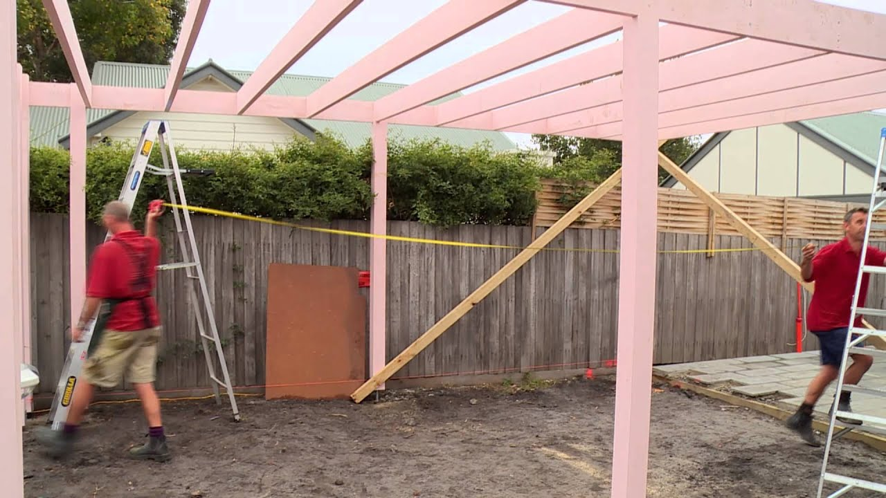 How to install bracing for a carport diy at bunnings for Diy car port
