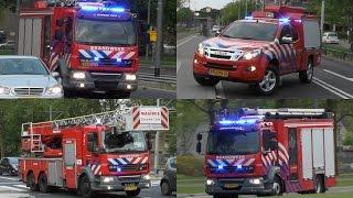 4X Brandweer met spoed naar Gebouwbrand Heymansstraat Rotterdam #409