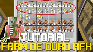 Tutorial - Farm de Ouro e XP AFK - Minecraft Xbox One (XONE/X360/PS4/PS3)