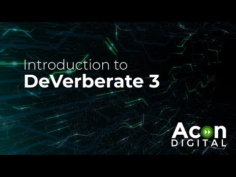 Introduction to DeVerberate 3