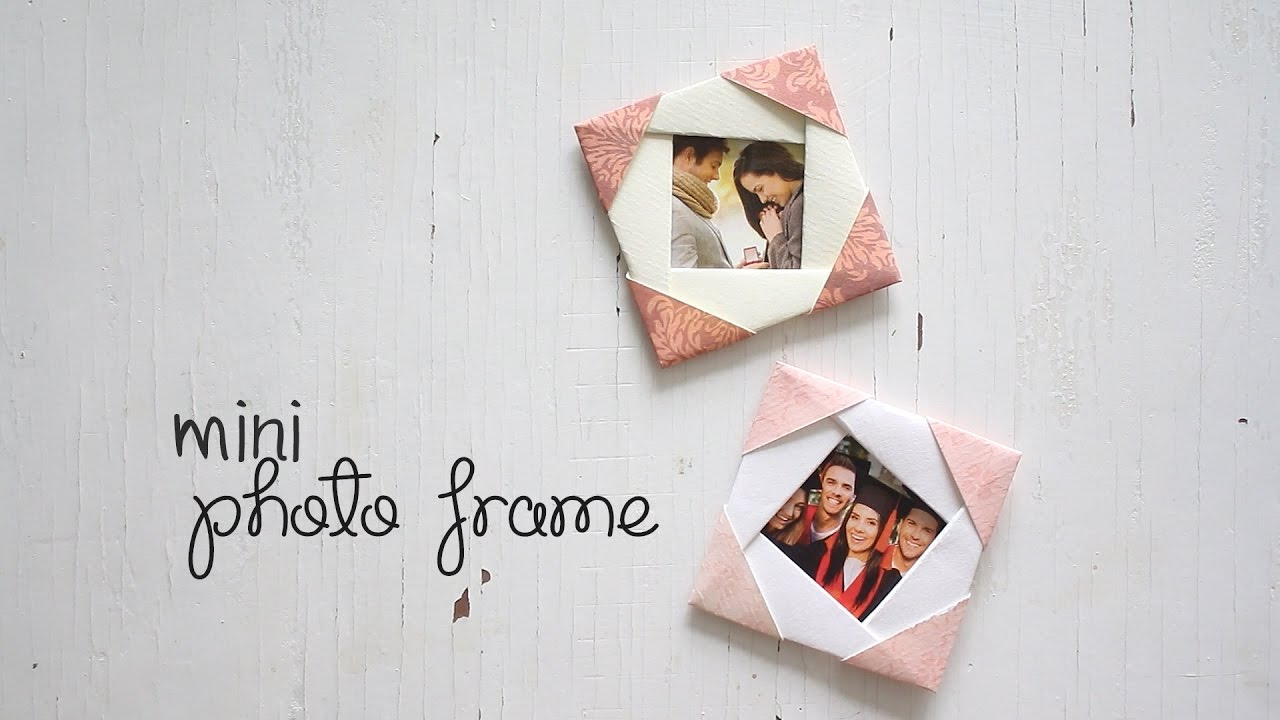 DIY: Cute Mini Photo Frame - YouTube